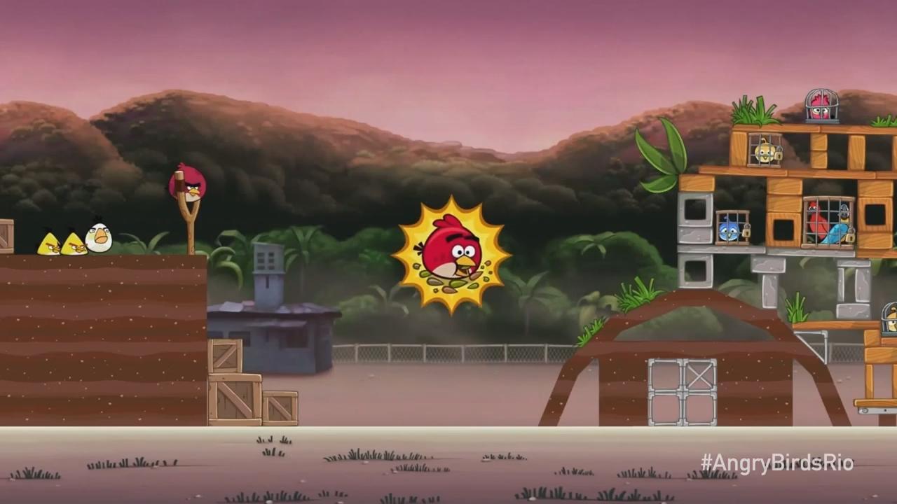 تحميل لعبهAngry Birds Rio 'Now with Power-Ups' Trailer لعبه الطيور الغاضبه الشهيره